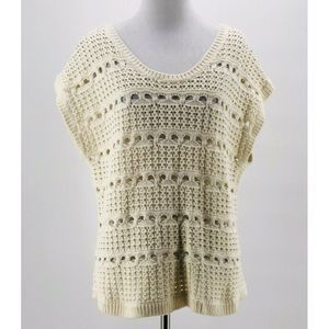 Wallace Madewell Ivory Punchcard Sweater Medium